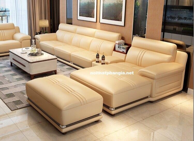 sofa da hiện đại e24