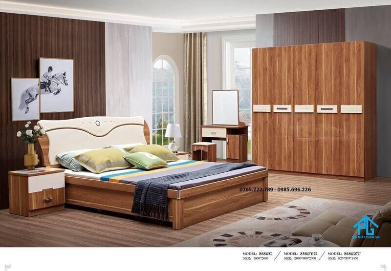 bộ giường tủ giá rẻ nhập khẩu