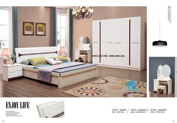 Bộ giường tủ phòng ngủ cao cấp 1836