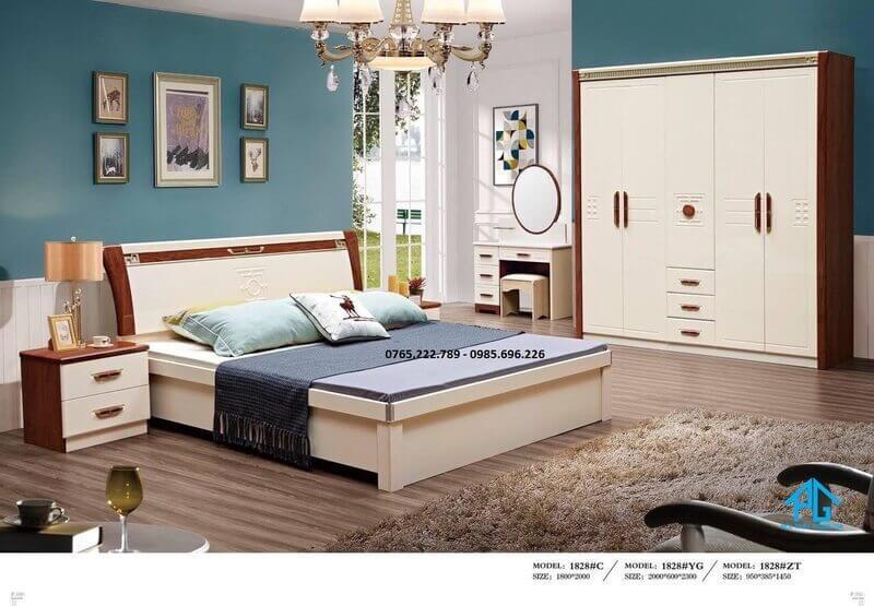 chi phí mua bộ giường tủ gỗ công nghiệp