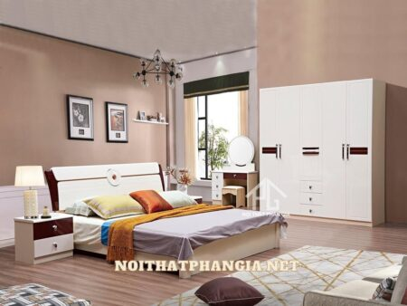 combo giường tủ gỗ giá rẻ 1829
