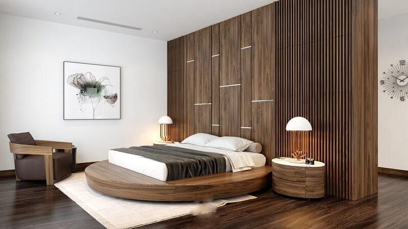 giường gỗ tự nhiên dạng tròn