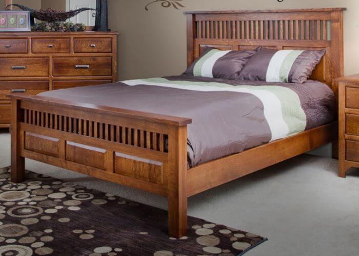 giường ngủ đơn từ gỗ hương