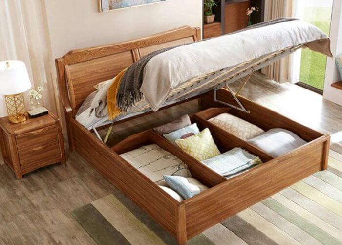 giường ngủ gỗ hương thông minh