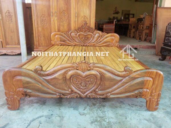 giường ngủ gỗ lim tự nhiên