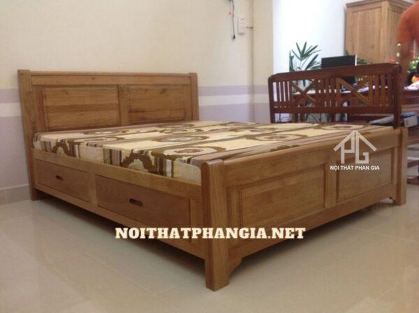 giường ngủ gỗ pơ mu tự nhiên