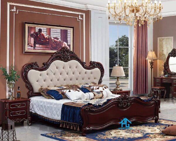 giường ngủ gỗ sồi tự nhiên;