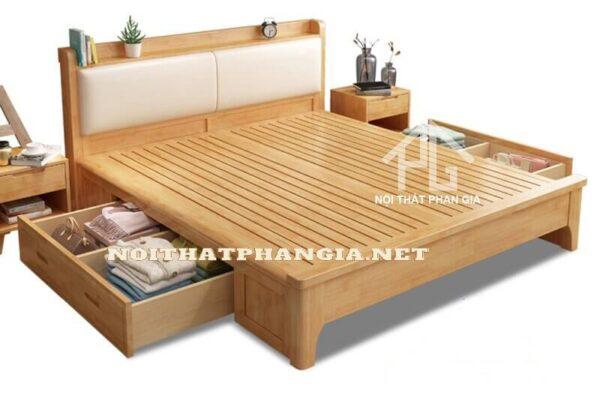 giường ngủ gỗ tần bì tự nhiên