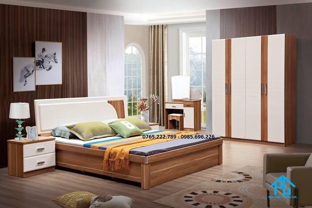 giường ngủ gỗ tự nhiên giá rẻ;