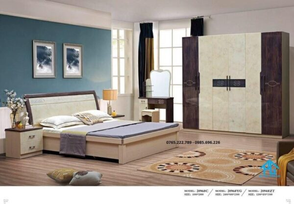 Giường tủ cao cấp nhập khẩu 2096
