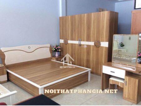 giường tủ gỗ công nghiệp 868 hiện đại