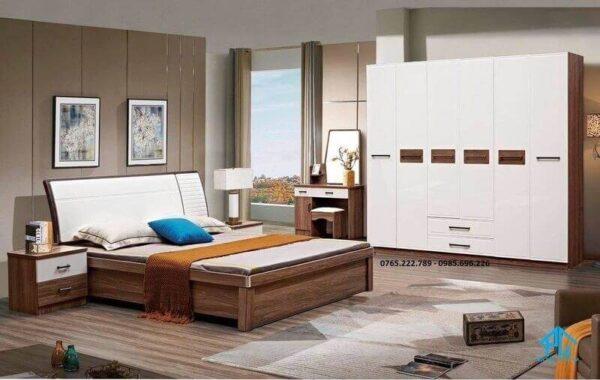 Giường tủ gỗ công nghiệp đẹp 2066