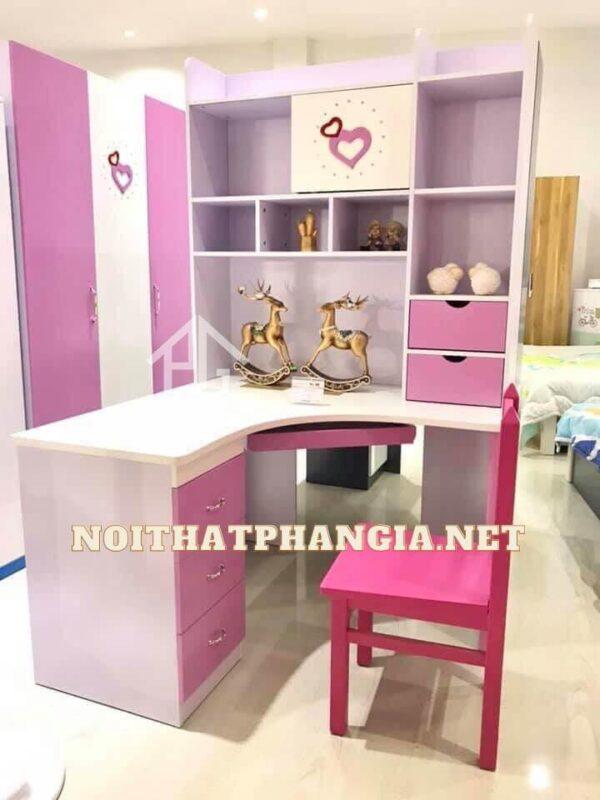 giường tủ màu hồng 898