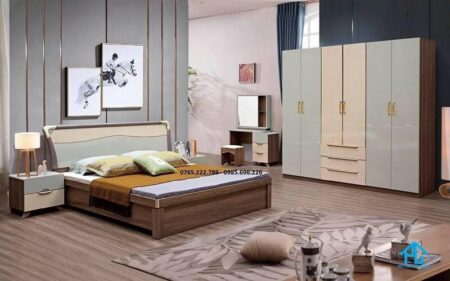 giường tủ phòng ngủ gỗ công nghiệp 2266