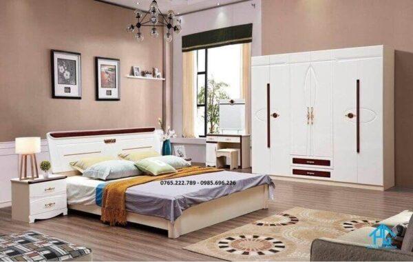 giường tủ trắng kem 1826