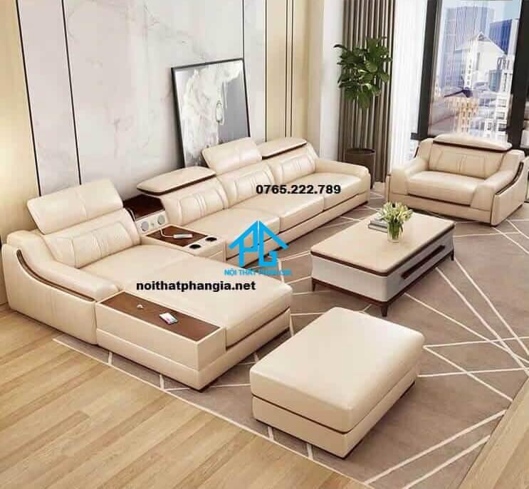 Sofa da hiện đại E16