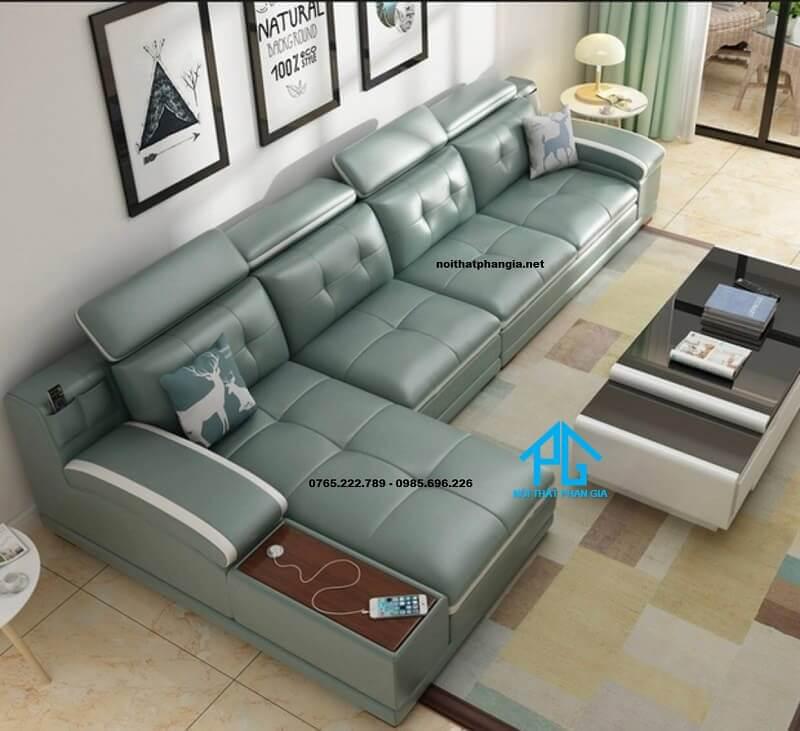 Sofa da hiện đại E17