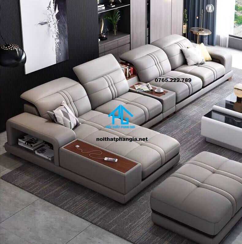 Sofa da hiện đại E18