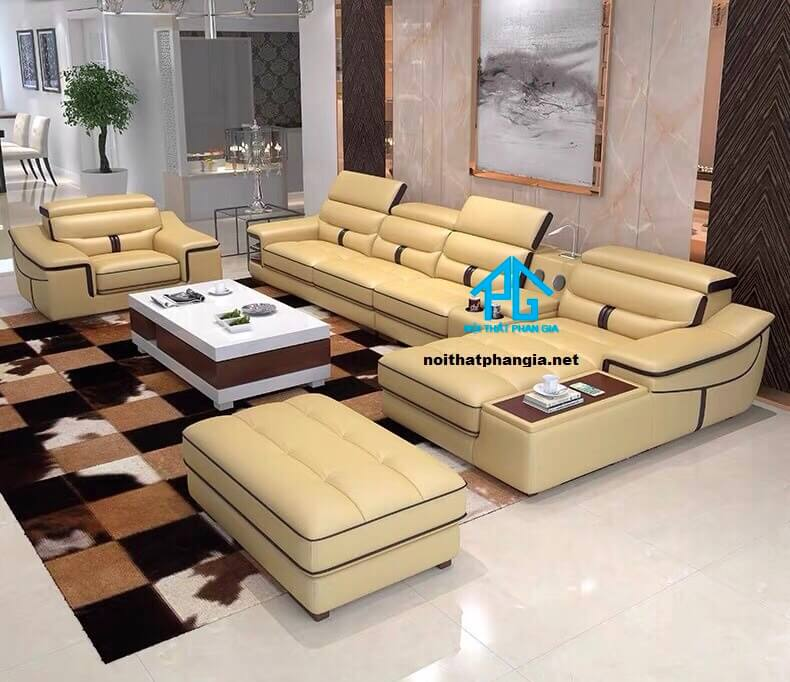 Sofa da hiện đại E21