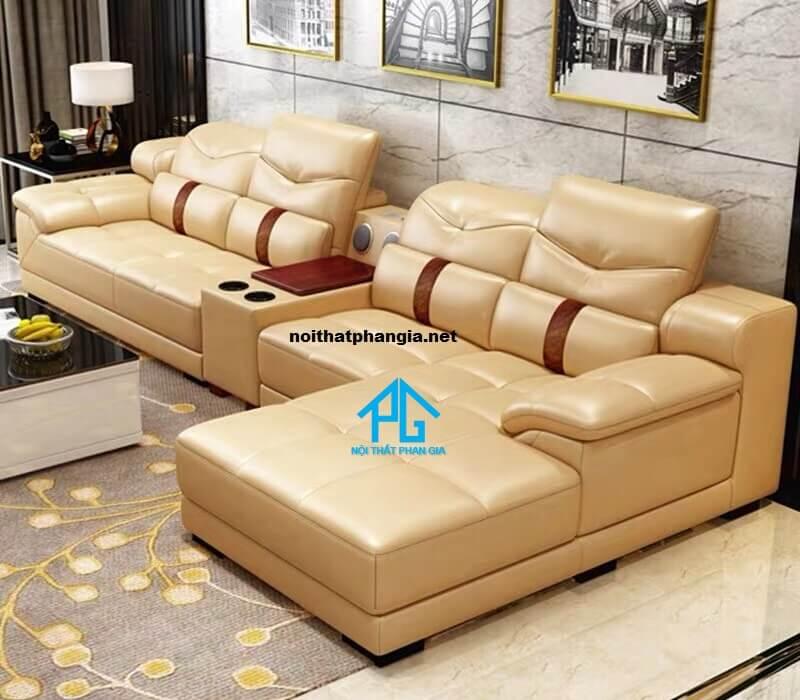 Sofa da hiện đại E23