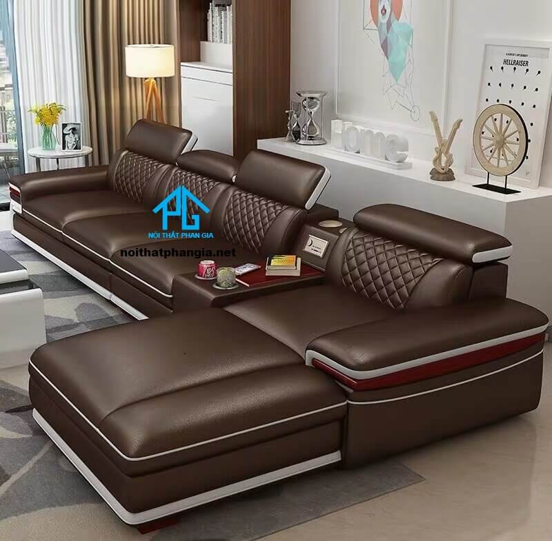 Sofa da hiện đại E25