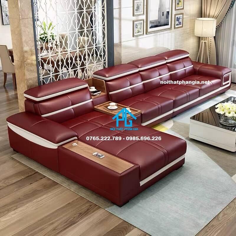 Sofa da hiện đại E266