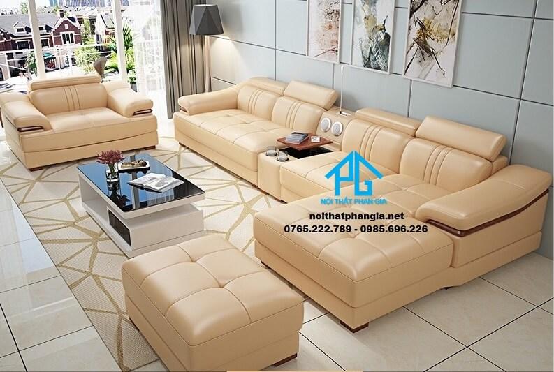Sofa da hiện đại E27