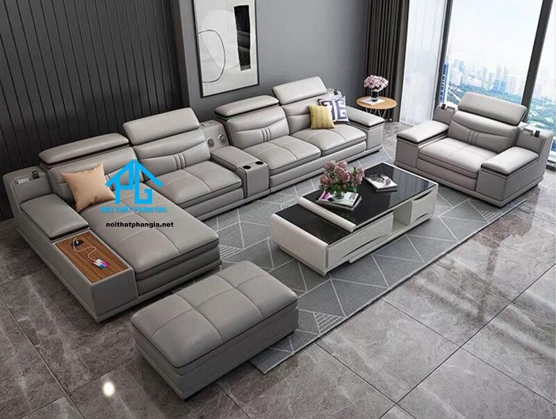 Sofa da hiện đại E28
