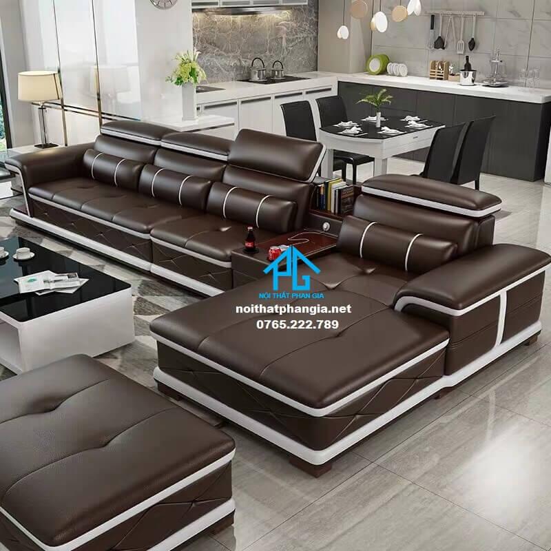Sofa da hiện đại E307