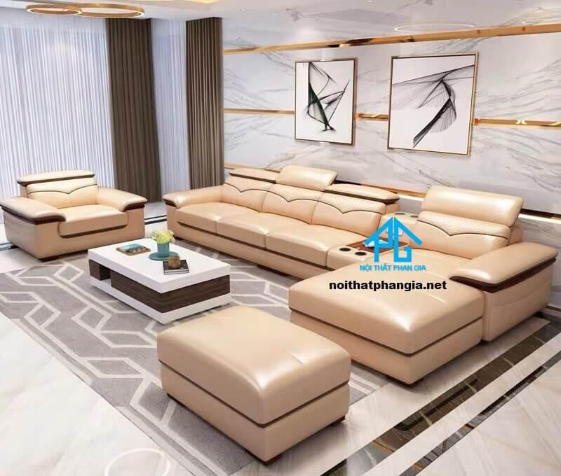 Sofa da hiện đại E32