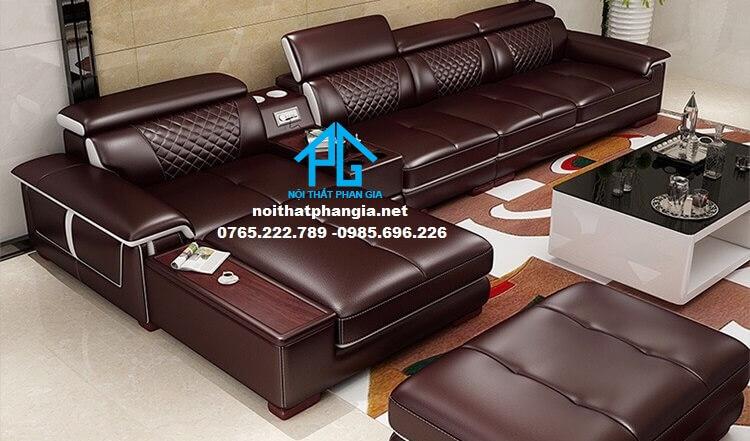 Sofa da hiện đại E34