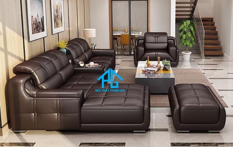Sofa da hiện đại E35