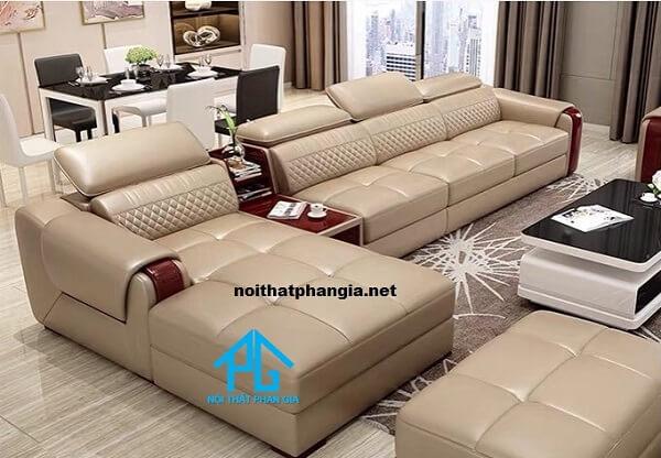 sofa da hiện đại e15