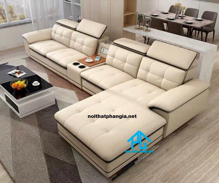 sofa da tay gối e12
