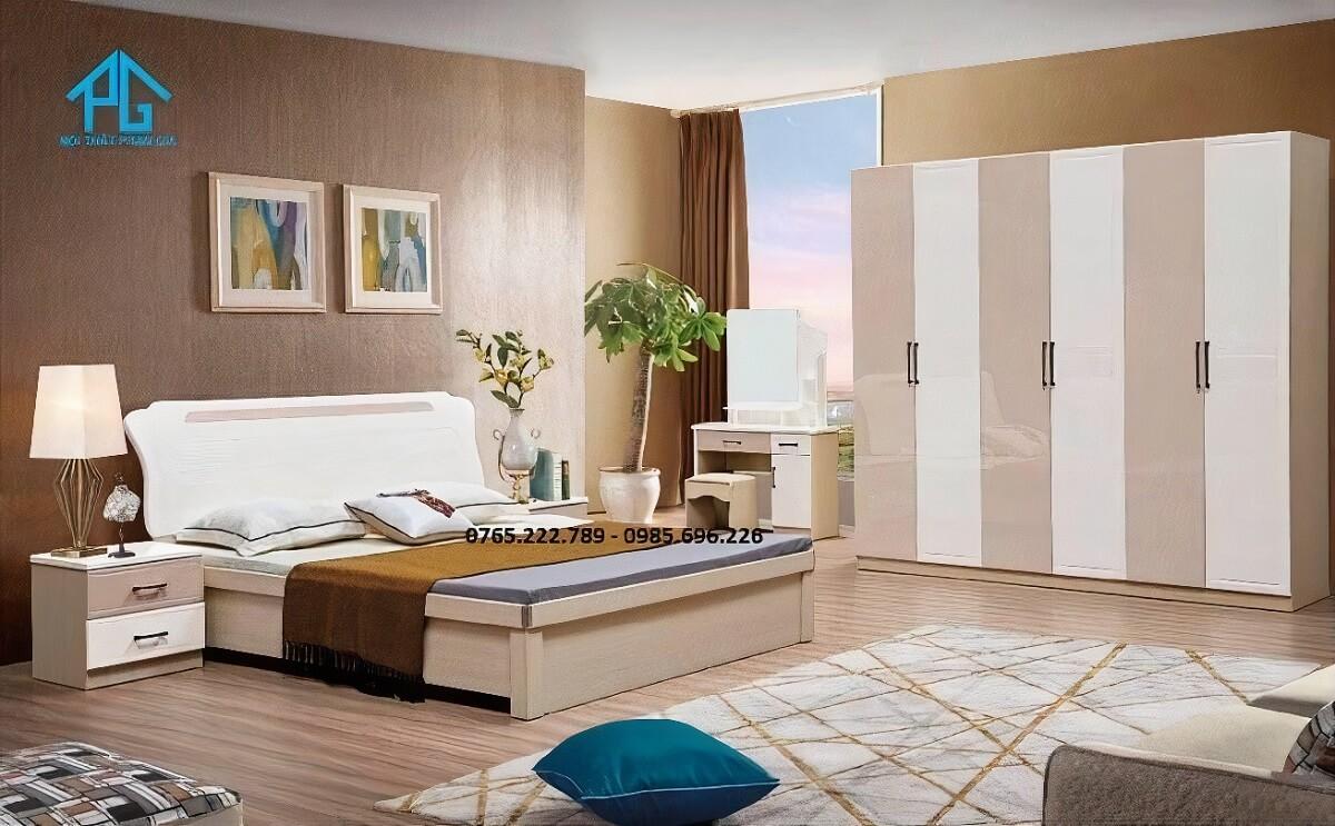 Trọn bộ combo giường tủ 2056