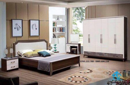 Trọn bộ giường tủ nhập khẩu 2116