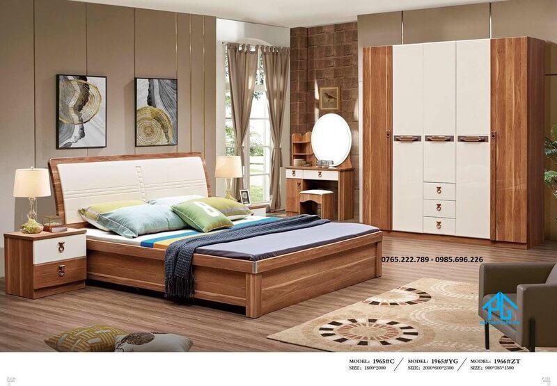 Trọn bộ giường tủ phòng ngủ cao cấp 1965