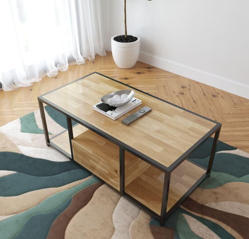 bàn trà khung sắt đơn giản đẹp