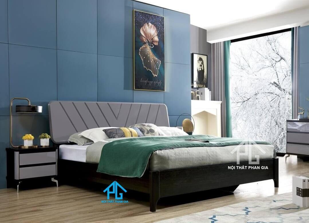 Giường ngủ không chân bằng nệm cao cấp không gầm;