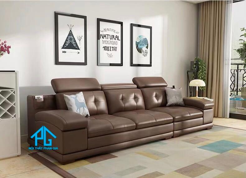 Sofa băng E17 nâu