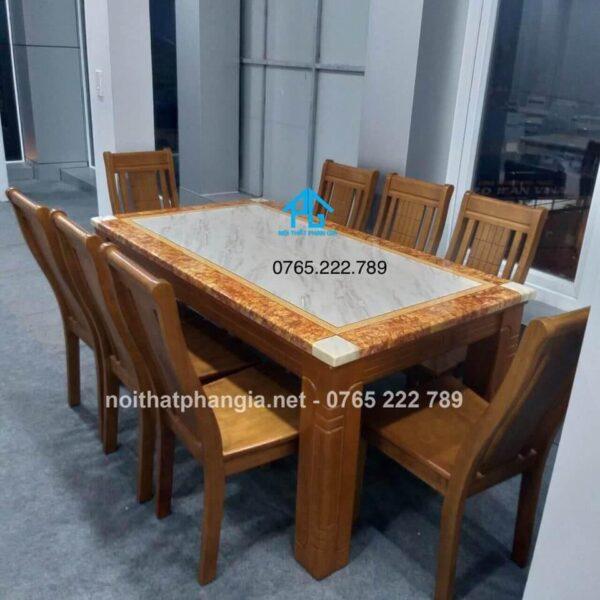bàn ăn mặt đá 6 ghế bình dương