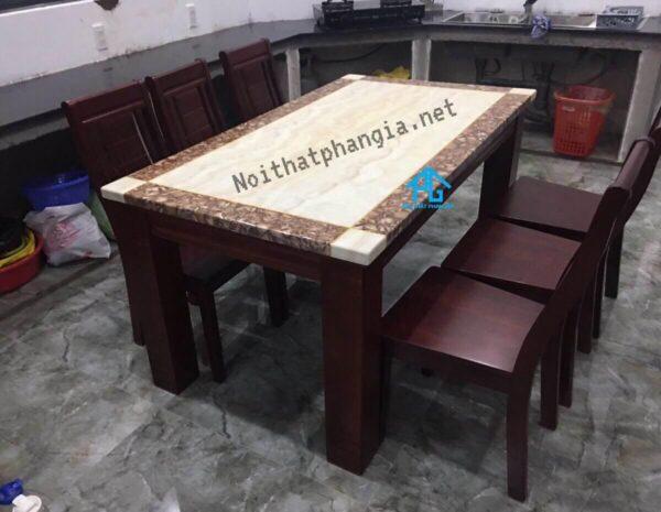 bàn ăn 6 ghế mặt đá tốt nhất