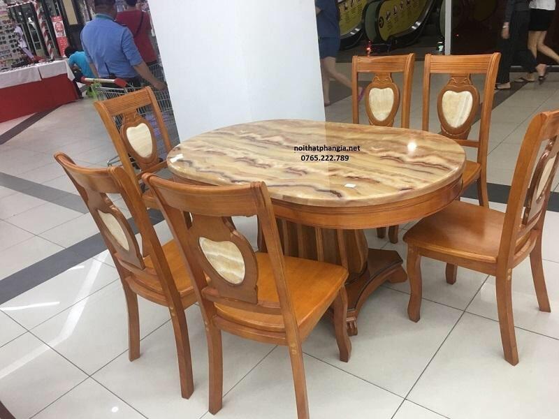 bàn ăn BA01 vàng