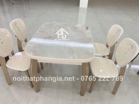 bàn ăn bếp từ 6 ghế