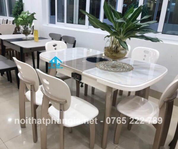 bàn ăn thông minh 6 ghế