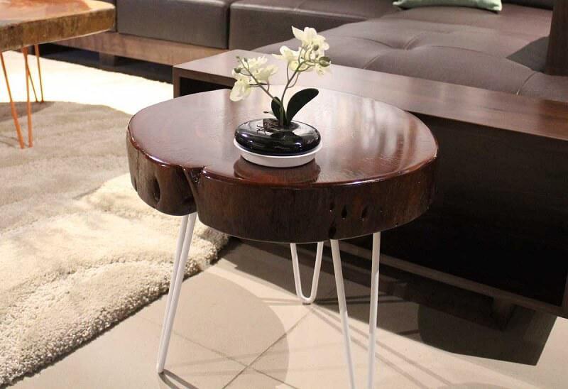 bàn trà nhỏ chân trắng đẹp