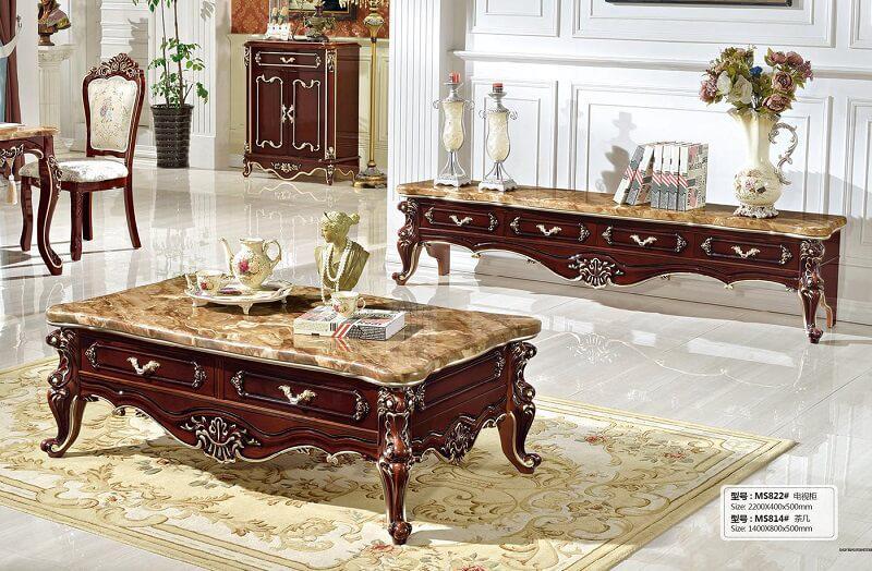 bàn trà phong cách cổ điển chất lượng