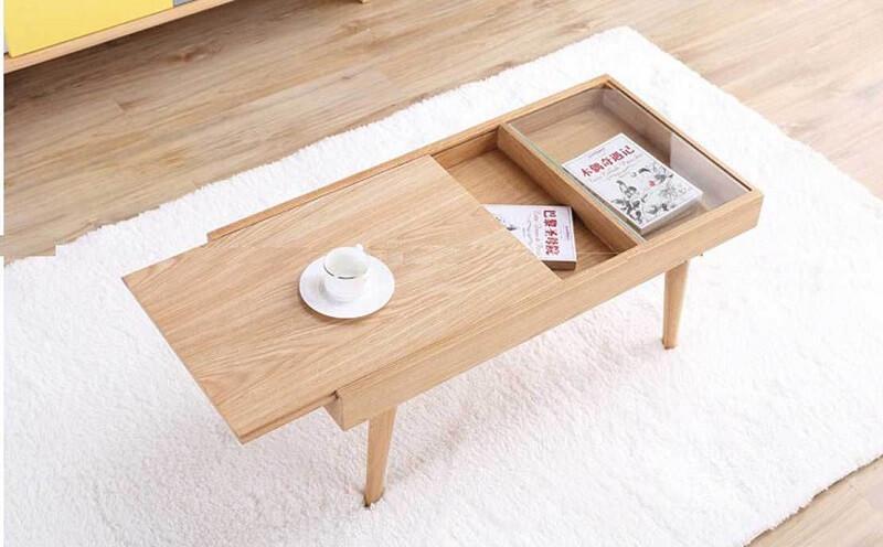bàn trà thông minh thiết kế trượt đẹp