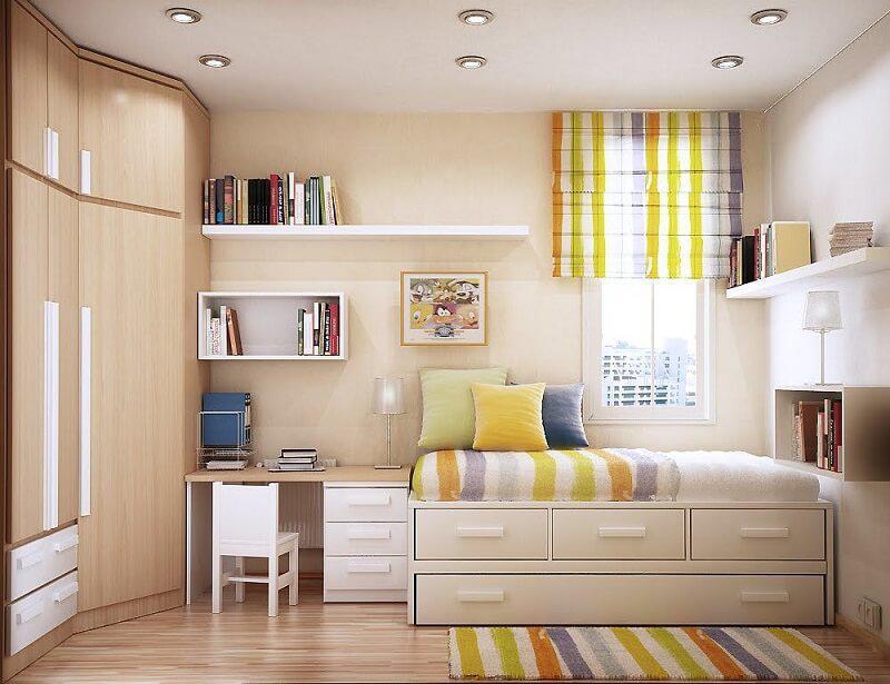 cách bố trí thiết kế phòng ngủ cho diện tích nhỏ