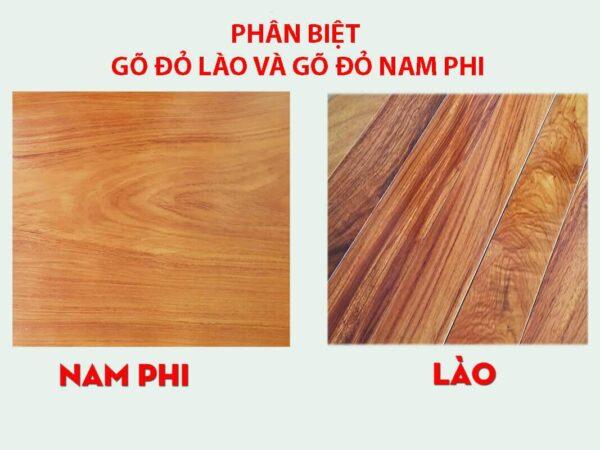 chất liệu gỗ gõ đỏ